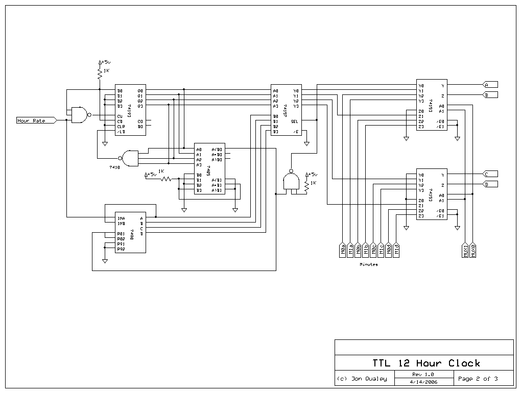 logic diagram of a 12 hour digital clock  u2013 the wiring